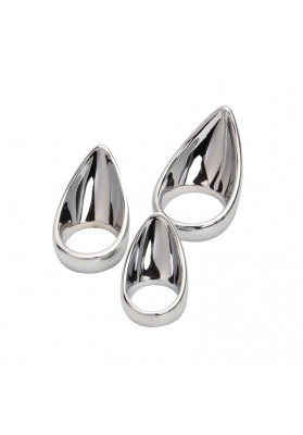 40mm Metal penis ring ball stretcher time delay cock ring scrotum stretcher sex products for men penis sex ring