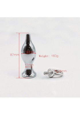 35*87mm 160g Metal anal plug butt plug with pull ring anal beads erotic toys anal sex toys for men and women