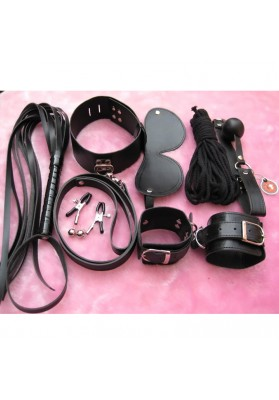 Adult Game Leather Fetish sex bondage Restraint Handcuff gag Queen Constume nipple clamps whip sex furniture sex toy for couples