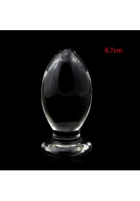 12*6.7cm Huge Crystal Anal Plug, Glass Butt Plug ,Gay Anal Sex Toys,Adult Sex Products for Women,Big Anal Bead Crystal Dildo