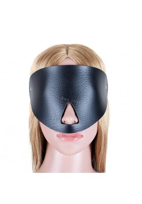 Fetish Eye Mask PU Leather Blindfold Open Nose Mask  Adult Products Bondage Female Sex Toys Restraint Blinder For Couples Game