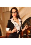 High Quality Teacher costume, role playing clothing/ lingerie set,secretary uniforms, sexy costumes badydoll for women,sex toys