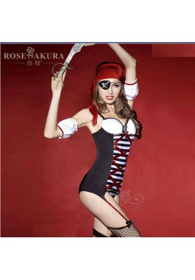 New Sexy Women Pirates Costumes for Halloween Stage Performance Night Clubwear Girl Cosplay Clothing Erotic Lingerie Set Uniform
