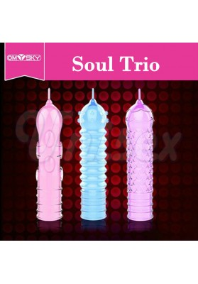 ( 3Pcs/Lot ) Fashionable Delay Crystal Penis Sleeve Textured Extension Condoms,Adult Sex Products for Men Sex Toys for Couple