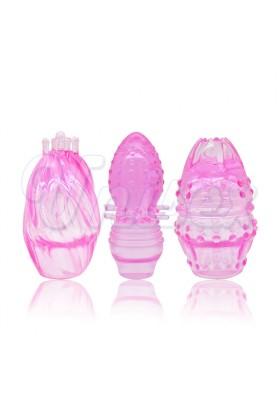 ( 3 Pcs/Lot )Leten Soft Touch G-Spot Headgears Set for Jack Rabbit Vibrators, Erotic Sex Toys for Women Sex Products