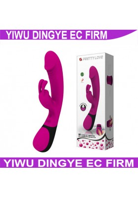 12 Speed Pretty Love G-Spot Stimulation Vibrating Dildo Vibrator Masturbator Sex Toy with Pressure Sensor