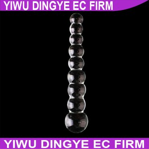 Crystal Glass Penis,Glass Simulation Anal Beads Butt Plug Crystal Dildos Sexy Toys for Women