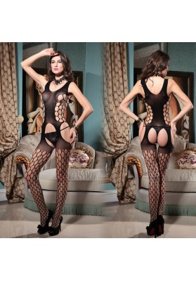2015 Women's Bodystocking open crotch bodystocking Sexy Lingerie Bodysuit Costume