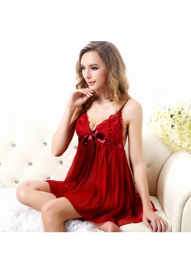 High Quality Brand Women Lace Sleepwear Pajamas Set Sexy Lingerie Red Erotic Lingerie Open Crotch Wedding Lingerie
