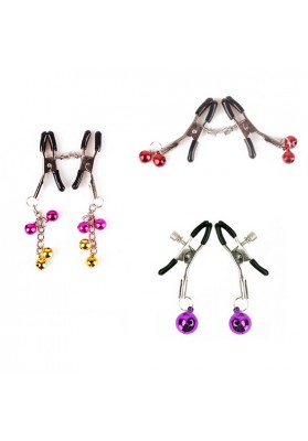 3 Pairs Nipple Clamps  Fun Flirting Toys with Jingle Bell  Adjustable Nipple Chain Adornment Clip Sexual Experience Sex Toys