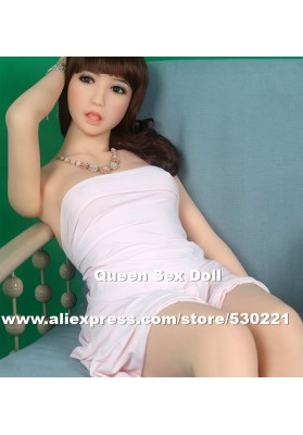 153cm Top quality life size silicone sex doll with metal skeleton, cyberskin sex doll small breast, oral love doll vagina pussy