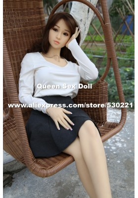 158cm Top quality silicone sex dolls with metal skeleton, japanese real love doll, life size sex doll, oral sex toys vagina anal