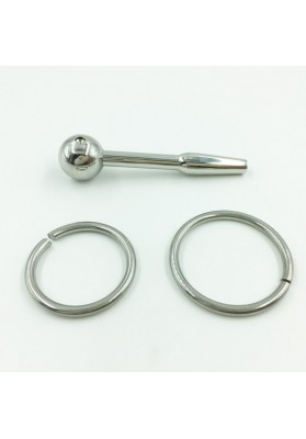 A003 Hollow Stainless Steel Urethral Penis Plug and Sound Sex Toy Stainless Steel Urethra Stimulation with Penis Ring