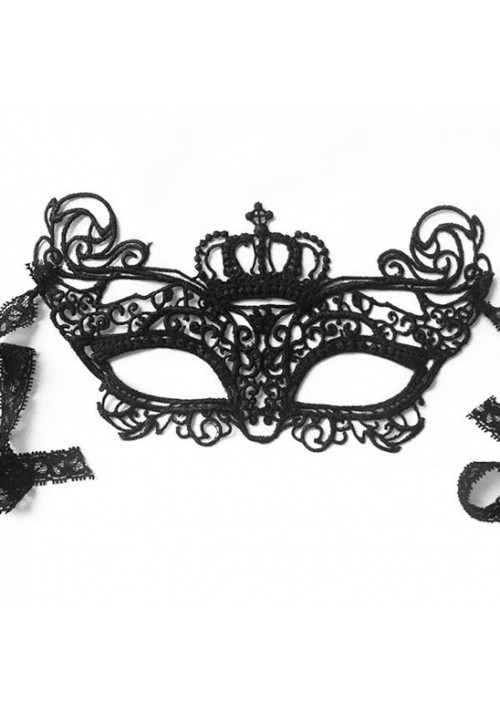 1 Piece Black  Lace Crown Blindfold Eye Patch for Women Flirting Sex Products for Couples Adult Sex Game Toys Party Eye Mask
