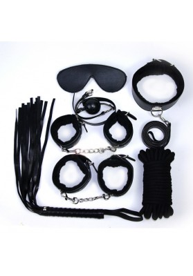 Black 7PS/lot  Sex Bed Restraints Bondage Kit Sex Slave Toys Flirting S & M Sex Toys for Couples,Adults Sex Products for Women