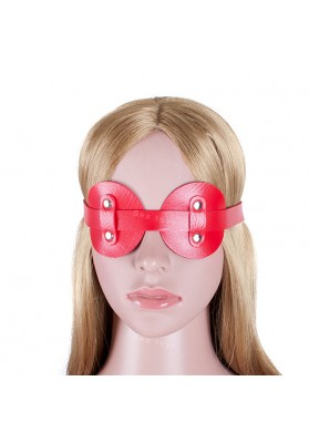 Bondage Restraints S&M Sex Toys  Red PU Leather Goggles Sexy Blindfold Eye Mask for Woman Couple Sex Games Adult Sex Products
