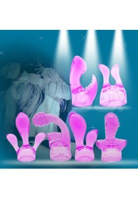 ( 6 pcs/Lot )Leten Stunning Soft Touch AV Magic Wand Massager Headgear, Erotic Aid Massager Sex Toys