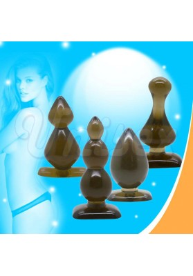 ( 4 pcs/Lot )Leten Jelly Anal Toys Smooth Touch Soft Butt Plug Insert Set, Unisex Sex Toys Adult Products