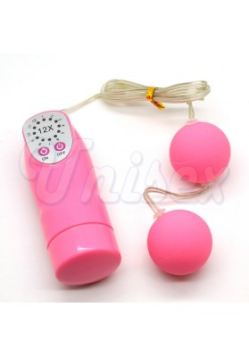 Vibrating Power Ben Wa Balls Anal Beads, Vagina & Anal Trainer Balls, Unisex Silicone Body Massager Toys, Adult Product