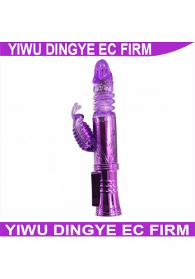 2014 New  Purple 12 Function Jack Rabbit Dildo Dildo Thrusting Vibrators  For Women
