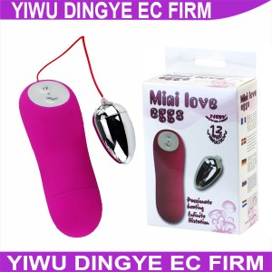 Baile 12 Speed  Vibrating Waterproof  Mini Bullet and Egg Vibrators Sex Product for Women