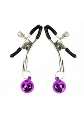 Screw Nipple Clamps  Flirting Toys Fetish Nipple Teasers,Adult Toys Breast Clit Sensual Bondage with Jingle Bell for Women