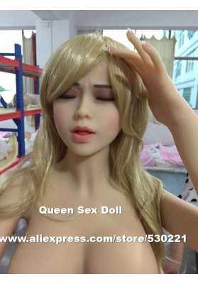 2015 New Top quality oral sex doll head for asian silicon sex doll, real feel sex toys for men, closed eyes sex products