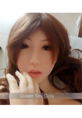 NEW! Top quality oral sex doll head with metal skeleton for real silicone sex dolls for man full size sex doll