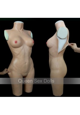 TD-2 new top quality crossdresser realistic silicone breast forms party masks silicone tight dress cross dressing costume props
